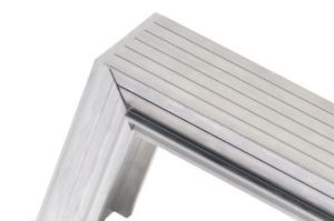 Aluminium-Detail Gehrung